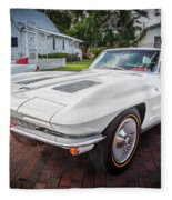 1963 Chevy Corvette Coupe Painted  Fleece Blanket