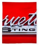 1963 Chevy Corvette Stingray Emblem Fleece Blanket