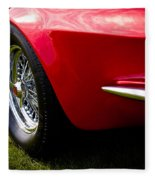 1963 Red Chevy Corvette Stingray Fleece Blanket