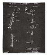1963 Space Capsule Patent Gray Fleece Blanket