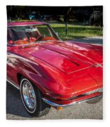 1964 Chevy Corvette Coupe  Fleece Blanket