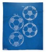1964 Soccerball Patent Artwork - Blueprint Fleece Blanket