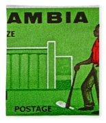 1964 Zambia Farmer Stamp Fleece Blanket