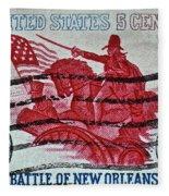 1965 Battle Of New Orleans Stamp Fleece Blanket