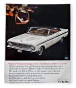 1965 Ford Falcon Ad Fleece Blanket