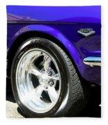 1965 Ford Mustang Gt350 Muscle Car Fleece Blanket
