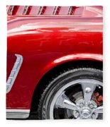 1965 Ford Mustang Really Red Fleece Blanket