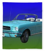1965 Mustang Convertible Fleece Blanket