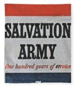 1965 Salvation Army Stamp Fleece Blanket