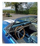1966 Convertible Mustang On Tour In The Cotswolds Fleece Blanket