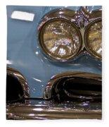 1967 Blue Corvette-front Left Fleece Blanket
