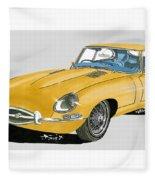 1967 Jaguar X K E Coupe Fleece Blanket
