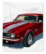 1968 Camaro Ss 350 Fleece Blanket