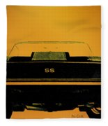 1968 Camaro Ss Head On Fleece Blanket
