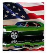 1968 Camaro Tribute Fleece Blanket