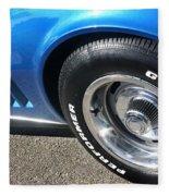 1968 Corvette Sting Ray - Blue - Side - 8923 Fleece Blanket