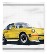 1968 Porsche Targa Fleece Blanket