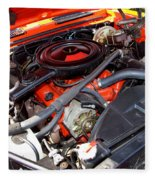 1969 Chevrolet Camaro Rs - Orange - 350 Engine - 7567 Fleece Blanket