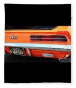 1969 Chevrolet Camaro Rs - Orange - Rear End - 7609 Fleece Blanket