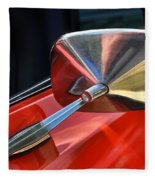 1969 Chevrolet Camaro Rs - Orange - Side Mirror - 7588 Fleece Blanket