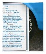 1970 Boss 429 Fact Placard Fleece Blanket