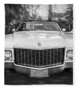 1970 Cadillac Coupe Deville Convertible Painted Bw Fleece Blanket