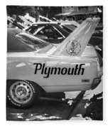 1970 Plymouth Road Runner Hemi Super Bird Bw Fleece Blanket