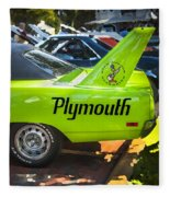 1970 Plymouth Road Runner Hemi Super Bird  Fleece Blanket