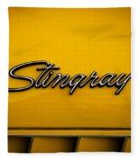 1971 Chevrolet Corvette Stingray Emblem Fleece Blanket
