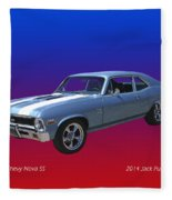 1971 Chevy Nova S S Fleece Blanket