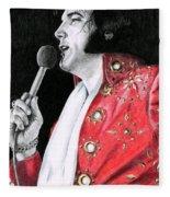 1972 Red Pinwheel Suit Fleece Blanket