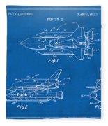 1975 Space Shuttle Patent - Blueprint Fleece Blanket