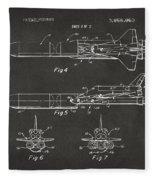 1975 Space Vehicle Patent - Gray Fleece Blanket