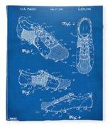 1980 Soccer Shoes Patent Artwork - Blueprint Fleece Blanket