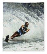 1980s Man Waterskiing Making Fan Fleece Blanket