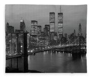 1980s New York City Lower Manhattan Fleece Blanket