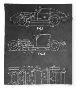 1983 Corvette Patent Fleece Blanket
