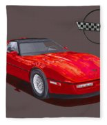 1986 Corvette Fleece Blanket