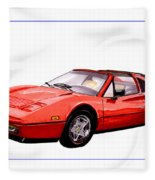 Ferrari 328 G T S 1986 Fleece Blanket