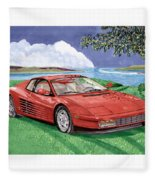 1987 Ferrari Testarosa  Fleece Blanket