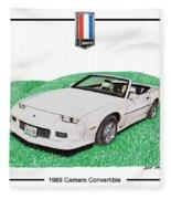 1989 Camaro Convertible Fleece Blanket