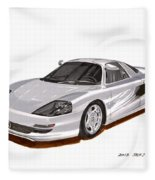 1991 Mercedes Benz C 112 Concept Fleece Blanket