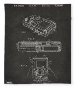 1993 Nintendo Game Boy Patent Artwork - Gray Fleece Blanket