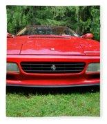 1993 Red Ferrari 512 Tr Fleece Blanket
