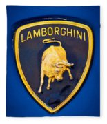 1995 Lamborghini Diablo Emblem Fleece Blanket