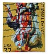 1996 Native American Stamp Fleece Blanket
