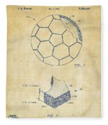 1996 Soccerball Patent Artwork - Vintage Fleece Blanket