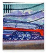 1999 Hiawatha Train Stamp Fleece Blanket