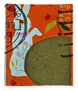 1999 Hong Kong Lunar New Year Stamp Fleece Blanket