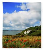 19th Century Duncannon Lighthouse Fleece Blanket